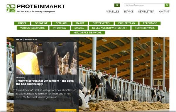 Vorschau von www.proteinmarkt.de, ProteinMarkt - Infoportal für Fütterung und Management