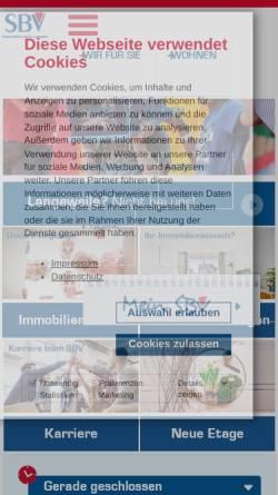 Vorschau der mobilen Webseite www.sbv-flensburg.de, SBV eG