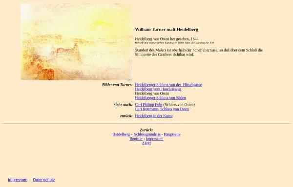 Vorschau von www.zum.de, William Turner malt Heidelberg