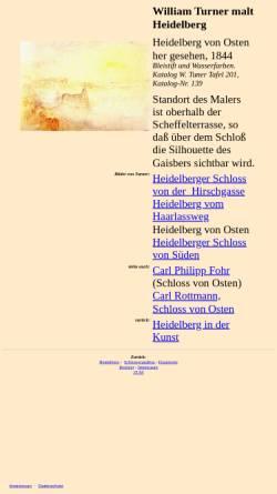 Vorschau der mobilen Webseite www.zum.de, William Turner malt Heidelberg