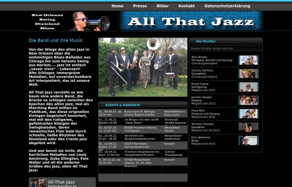Vorschau von www.all-that-jazz.net, All That Jazz