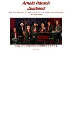 Vorschau der mobilen Webseite www.jazzmusik-potsdam.de, Arnold Hänsch Jazzband