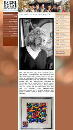 Vorschau der mobilen Webseite www.barrelhouse-jazzband.com, Barrelhouse Jazzband
