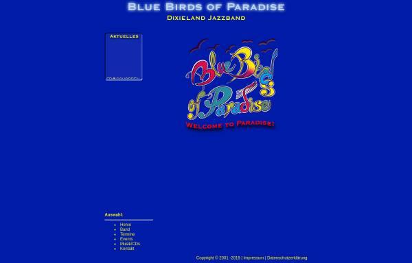 Vorschau von www.bluebirdsofparadise.de, Bluebirds of Paradise