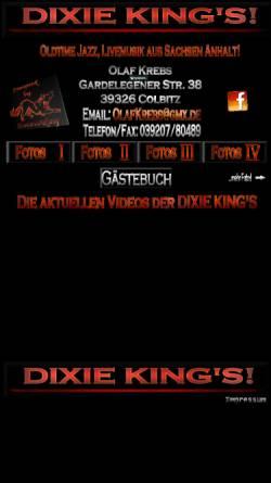 Vorschau der mobilen Webseite www.dixiekingsonline.de, Dixie Kings