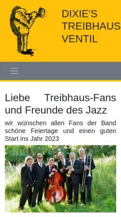 Vorschau der mobilen Webseite www.dtv-jazz.de, Dixie's Treibhaus Ventil