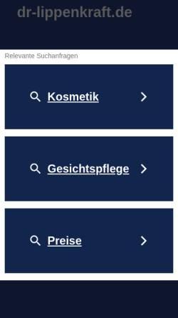 Vorschau der mobilen Webseite www.dr-lippenkraft.de, Dr. Lippenkraft