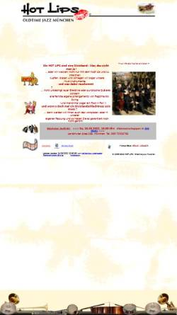 Vorschau der mobilen Webseite www.hotlips-jazz.de, Hot Lips
