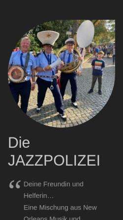 Vorschau der mobilen Webseite www.jazzpolizei.com, Jazzpolizei