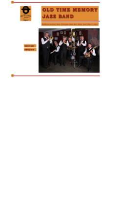 Vorschau der mobilen Webseite www.old-time-memory-jazzband.de, Old Time Memory Jazzband