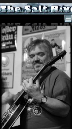 Vorschau der mobilen Webseite www.saltriver.de, The Salt River Dixie Band