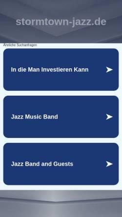 Vorschau der mobilen Webseite www.stormtown-jazz.de, Stormtown Jazzcompany
