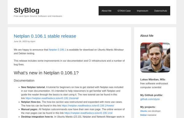 Vorschau von blog.slyon.de, Slyons Ubuntu Infos