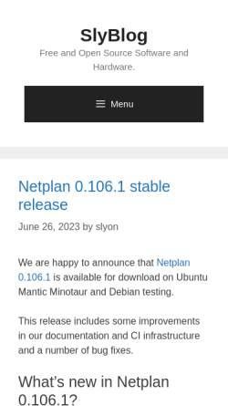Vorschau der mobilen Webseite blog.slyon.de, Slyons Ubuntu Infos