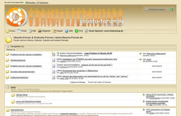 Vorschau von www.ubuntu-forum.de, Ubuntu-Forum.de