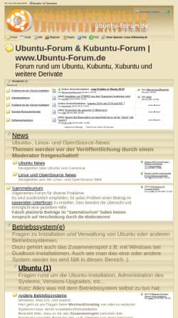 Vorschau der mobilen Webseite www.ubuntu-forum.de, Ubuntu-Forum.de