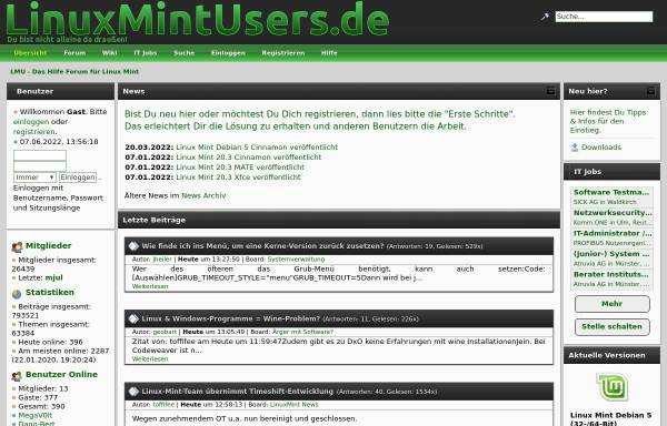 Vorschau von www.linuxmintusers.de, www.linuxmintusers.de
