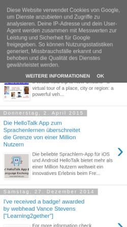 Vorschau der mobilen Webseite fremdsprachenundneuemedien.blogspot.com, Fremdsprachen und Neue Medien