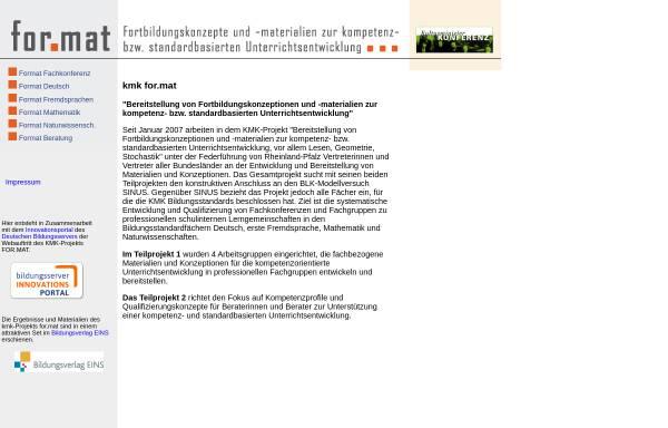 Vorschau von kmk-format.de, KMK-Projekt Format