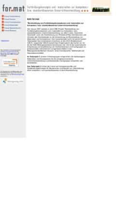 Vorschau der mobilen Webseite kmk-format.de, KMK-Projekt Format