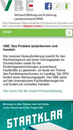 Vorschau der mobilen Webseite lehrerforum.de, Lehrerforum.de