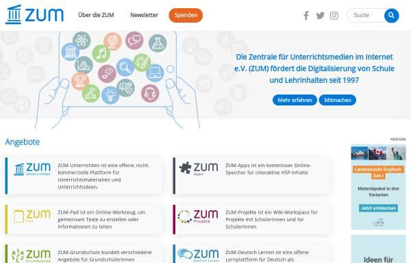Vorschau von unity.zum.de, ZUM-Unity