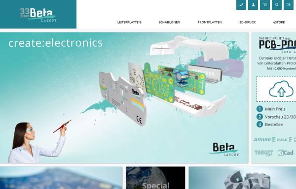 Vorschau von www.beta-layout.com, Beta Layout GmbH