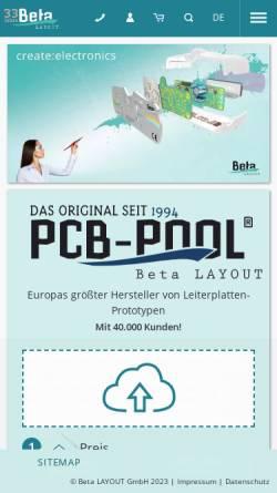 Vorschau der mobilen Webseite www.beta-layout.com, Beta Layout GmbH