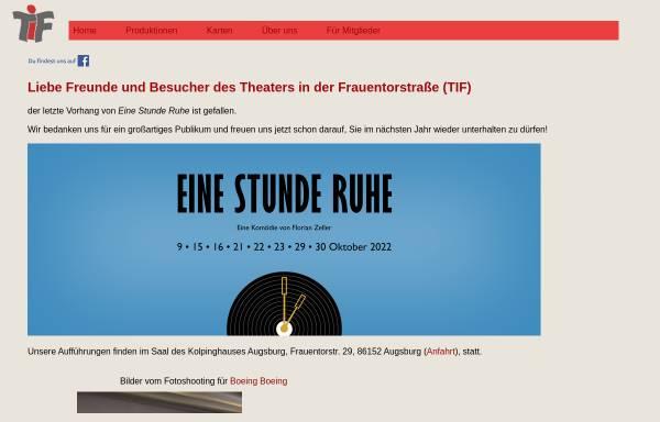 Vorschau von www.tif-augsburg.de, Augsburg, Theater in der Frauentorstraße e.V.