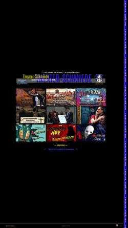 Vorschau der mobilen Webseite www.theater-schmiede.de, Bobingen, Theater-Schmiede