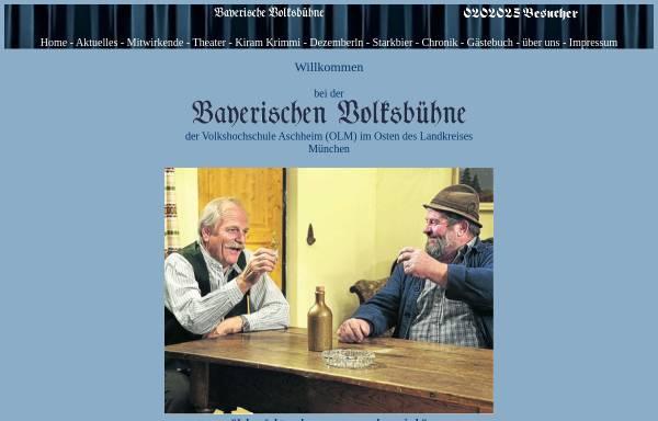 Vorschau von www.bayerischevolksbuehne.de, Kirchheim und Aschheim, Bayerische Volksbühne