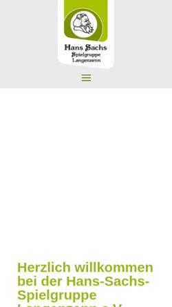 Vorschau der mobilen Webseite hans-sachs-spiele.de, Langenzenn, Hans-Sachs-Spielgruppe e.V.