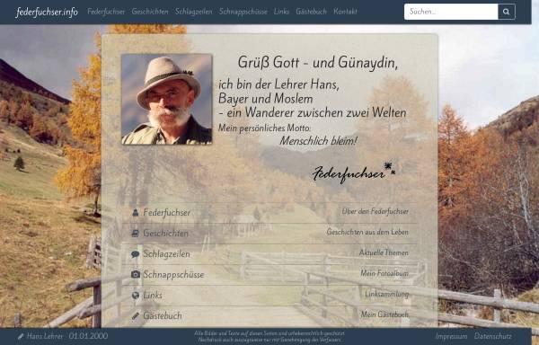 Vorschau von www.federfuchser.info, Lehrer, Hans