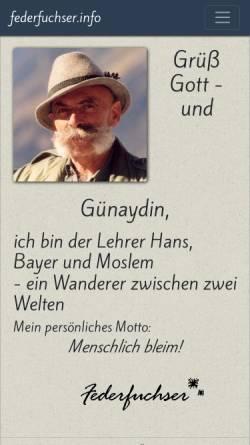 Vorschau der mobilen Webseite www.federfuchser.info, Lehrer, Hans