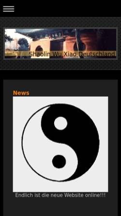 Vorschau der mobilen Webseite shaolinquan.de, Association for Shaolin Temple Arts
