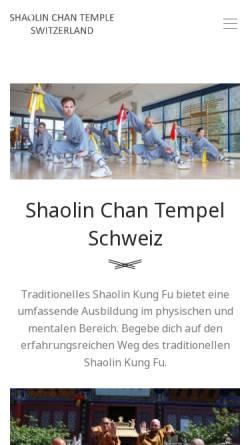 Vorschau der mobilen Webseite www.shaolin-luzern.ch, Lao-Pu Kung-Fu Schule