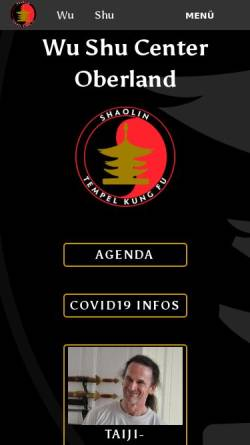 Vorschau der mobilen Webseite wu-shu.ch, Wu Shu Center Oberland