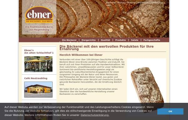 Vorschau von www.ebner-brot.de, Ebner GmbH