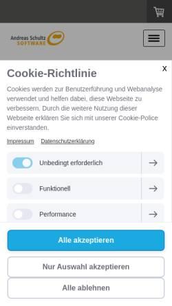 Vorschau der mobilen Webseite www.schultz-it.de, Andreas Schultz IT-Beratung