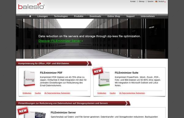 Vorschau von www.balesio.com, FILEminimizer Office