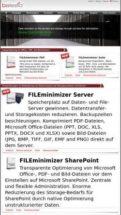 Vorschau der mobilen Webseite www.balesio.com, FILEminimizer Office