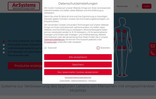 Vorschau von www.airsystems.de, AirSystems Medizinische Produkte GmbH