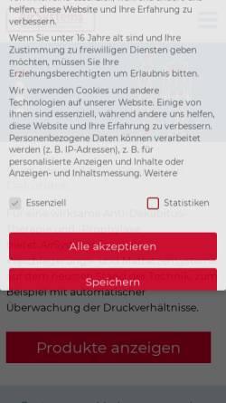 Vorschau der mobilen Webseite www.airsystems.de, AirSystems Medizinische Produkte GmbH