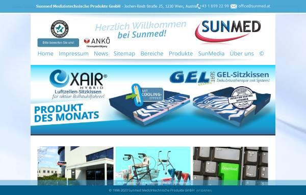 Vorschau von www.sunmed.at, Sunmed Medizintechnische Produkte GmbH