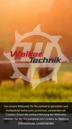 Vorschau der mobilen Webseite www.walker-technik.de, Walker Technik GbR