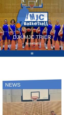 Vorschau der mobilen Webseite www.mjc-basketball.de, DJK / MJC Basketball Trier