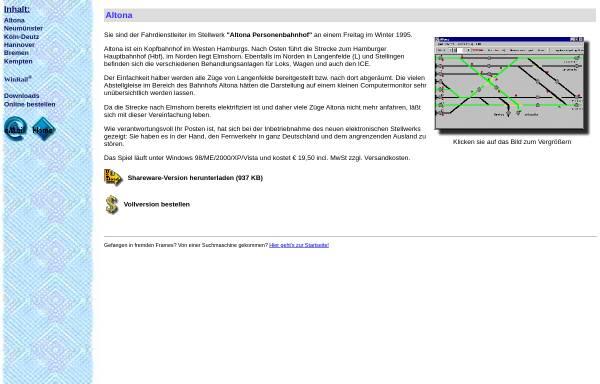 Vorschau von www.blumert.de, Stellwerkssimulationen