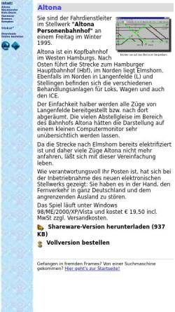 Vorschau der mobilen Webseite www.blumert.de, Stellwerkssimulationen