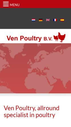 Vorschau der mobilen Webseite www.venpoultry.nl, Ven Poultry B.V.