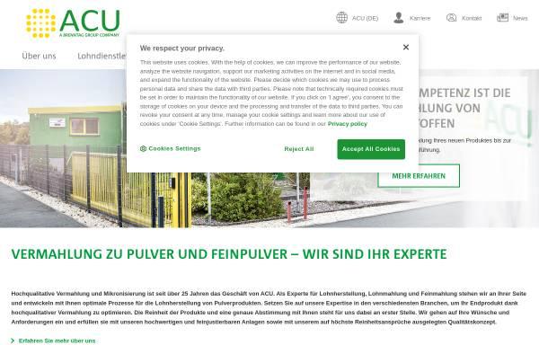 Vorschau von www.acu-pharma.com, ACU Pharma und Chemie GmbH